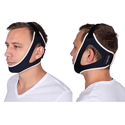 Oacis Life Anti-Snoring Chin Strap – [2019 Fall] Snoring Solutions for Men and Women – Double Adjustable Snoring Band – Snore Quiet Sleep Management Aid