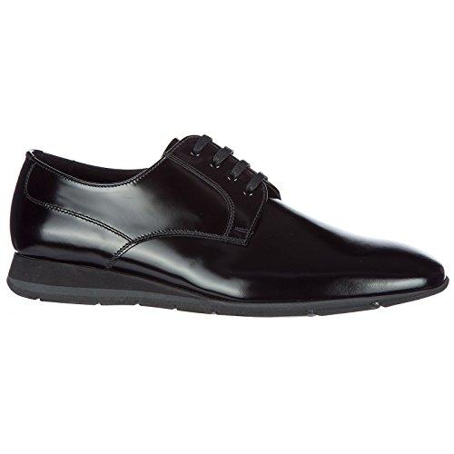 Prada scarpe stringate classiche uomo in pelle nuove derby nero