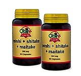 Reishi + shitake + maitake 300 mg. 90 capsule. (Pack 2 pezzi)