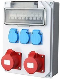 Wandverteiler 2x16A 3x230V Stromverteiler Baustromverteiler Feuchtraumverteiler Komplett AWVT9