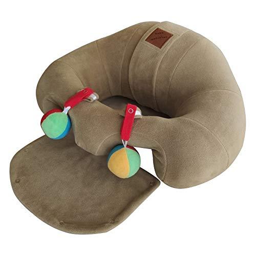 Das sicheren Babysitz, bequeme Baby Sitz, Stuhl, Sofa, Stützfütterungs, Geeignet für 3-12 Monate alte Babys. (Braun)