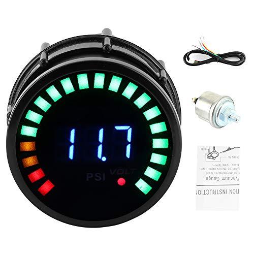 Medidor de presión de aceite, coche 2in 52mm 0-120 PSI Pantalla digital LED Medidor de presión de aceite Piezas de coche de alta precisión