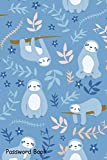 Password Book: Include Alphabetical Index With Print Sloth Blue Pattern