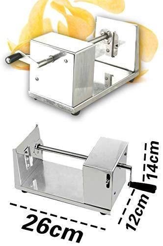 Roestvrij staal handmatige Tornado aardappel mes Twisted aardappels snijmachine spiraal Frieten snijden chips machine Hot Dog Chopper