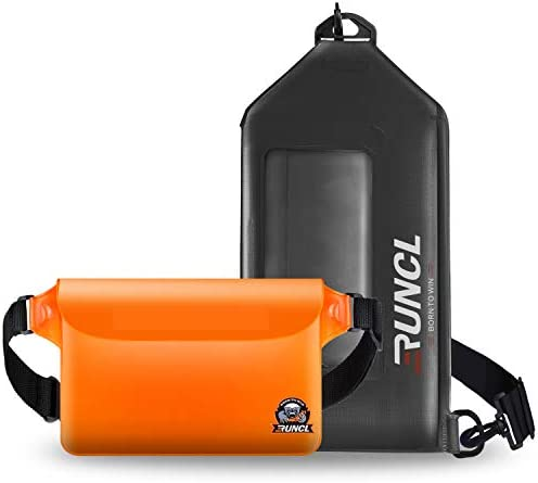RUNCL Waterproof Pouch Waist Pack Chest Bag Screen Touchable Dry Bag Slim Design Dual Closure product image