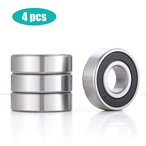 Proigtz 4pcs 6203-2RS Sealed Radial Ball Bearings 17x40x12mm Deep Groove Ball Bearings for Motor Water Pump Industrial Equipment