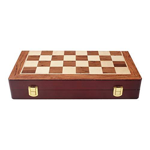 """ZHENGJIU Chess Schach/Schachspiel Set, Schachspiel Eltern-Kind-Spielzeug, Schachbrett Holz Klappbar mit Legierung Pieces, Reiseschachspiele 11.81 * 11.81 * 1.18\"""",Schachbrettspiele für Gehirnübungen"""