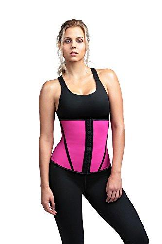 Diva Fit womens62WTDivafit Waist Trainer Waist Shapewear - Pink - Larg