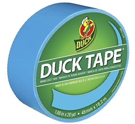 Duck Brand 1311000 Color Duct Tape, Electric Blue, 1.88 Inches x 20 Yards, Single Roll - 1