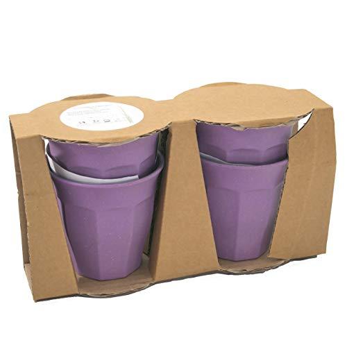 Nordal Bambus Mug/Becher 4er Set Violet