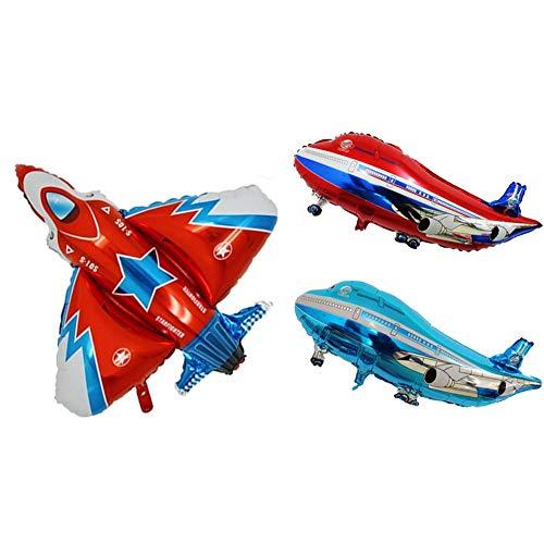 ED-Lumos 3 Stücke Bunte Flugzeug Helium Ballons für Kinder Mädchen Geburtstag Party Dekoration Geschenke