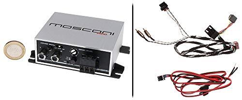 Mosconi Gladen PICO 2 mit ISO-Anschlusskit - Mini Auto Verstärker mit ISO-Anschlusskabel