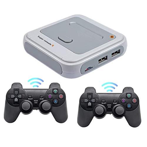 Consola de juegos retro, consola de videojuegos con salida de TV HDMI 4K con 2 controladores inalámbricos, más de 30000 juegos clásicos integrados, regalo ideal para niños y adultos(UE Enchufe)
