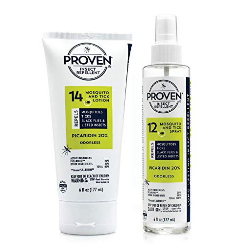 Proven Mosquito Repellent Spray & Lotion - Odorless Family Safe Bug, Tick, Black Fly & Insect Protection Spray for Travel, Woods & Backpacking, 6oz
