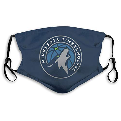 VF Minnesota Timberwolves Dustproof Breathableouth Cover with Filter Double Protection Adults