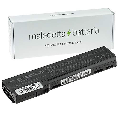 Batteria MaledettaBatteria per HP COMPAQ EliteBook 8460 8460p 8460w 8470p (6 Celle 5200mAh 10,8-11,1 V Nera)