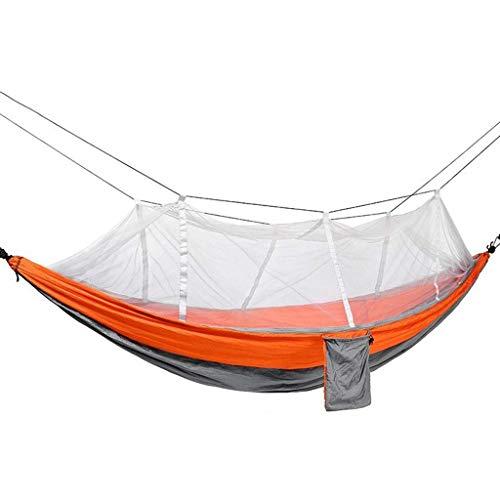 YJQZ Hamaca portátil con Red de Insectos, Correa y Maleta de árbol de Cuerda Fuerte, Adecuado para Viajes, Camping y Vida al Aire Libre (260140cm)