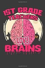1st Grade Teachers Love Brains: Halloween Teacher Lined Journal Gift Best Idea