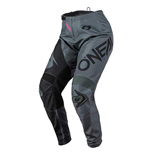O'Neal | Frauen Motocross-Hose | Enduro MX | Maximale Bewegungsfreiheit, Leichtes, Atmungsaktives und langlebiges Design, | Women's Pants Element Racewear | Erwachsene | Grau Pink | Größe 38