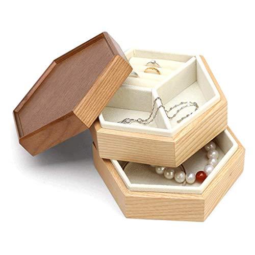 CMXUHUI Exquisite, fashionable, generous, worthy of posses Jewelry Case Wooden Simple Jewelry Box Multi-layer Large Capacity Jewelry Box Bracelet Necklace Ring Storage Box Jewelry Box