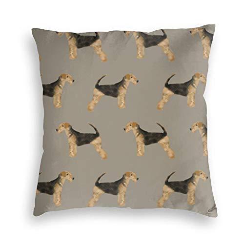 liang4268 Cute Dog Wiederverwendbarer Kissenbezug Wurf Sofa Kissenbezug Cartoon Samt Kissenbezug Bettkissen Autokissen Stuhlkissen(20'X20')