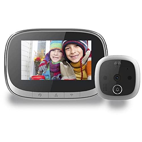 DNAMAZ Portero Video Doorbell WiFi Viewer Viewer Camera Intercom 4.3'Monitor Motion Detection Digital Anillo Digital automatico (Color : Silver Color)