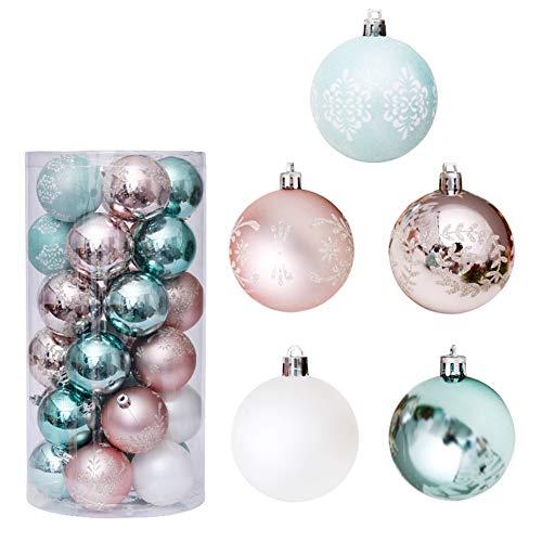 Urhause 30Pcs Bolas de Navidad 6cm, Adornos de Navidad para