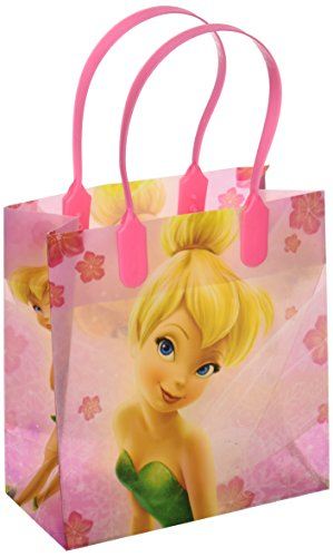Disney Tinkerbell Small Plastic Goodie Gift Favor Treat Tote Bags (12ct) by Unique
