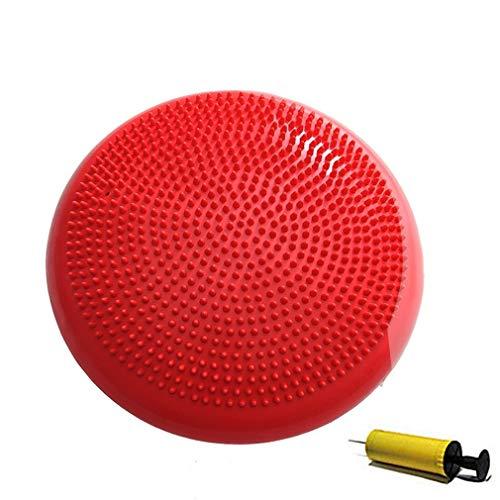 Cojín Inflable Duradero de la Bola del Masaje de la Yoga Deportes Estera Universal de la Aptitud del Gimnasio Rojo