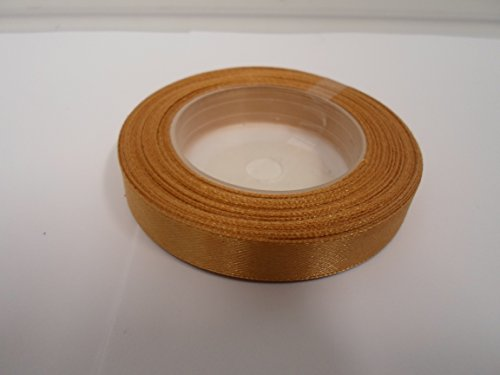 Beautiful Ribbon 1 Rouleau de 12 mm de Ruban de Satin x 13 mètres Caramel Brun Clair des faveurs de Mariage décorations de Pâques de Noël de l'artisanat 12mm