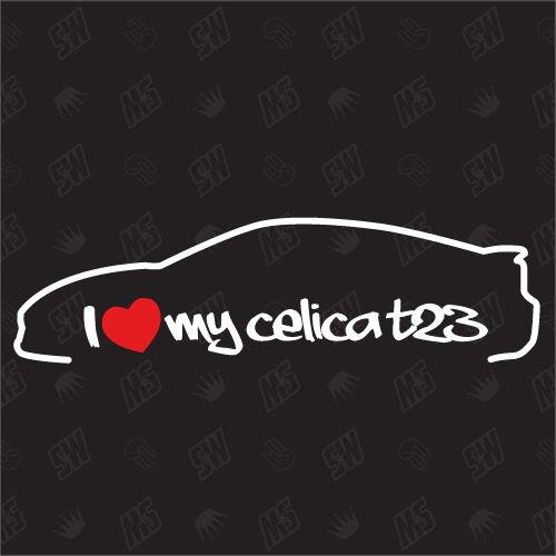speedwerk-motorwear I Love My Celica T23 - Sticker passend für Toyota - Bj. 1999-2005