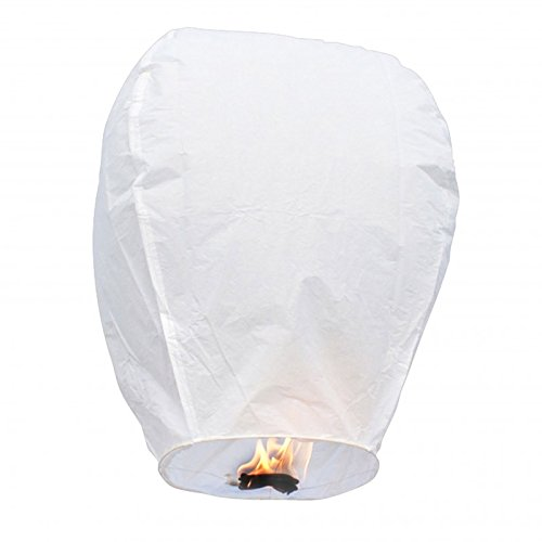 Lanterne Volanti 100% Bio - Sky Lanterns | Pack 10 u. (Bianco) | #EcoFriendly