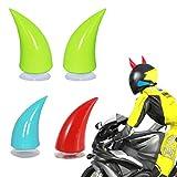 ZNEU Motorcycle Helmet Demon Horn Sucker Accessories - Corna Diavoletto da Applicare al Ca...