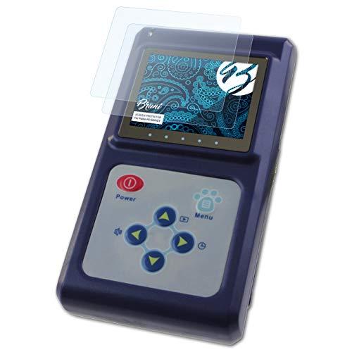 Bruni Schutzfolie kompatibel mit Pulox PO-600VET Folie, glasklare Displayschutzfolie (2X)