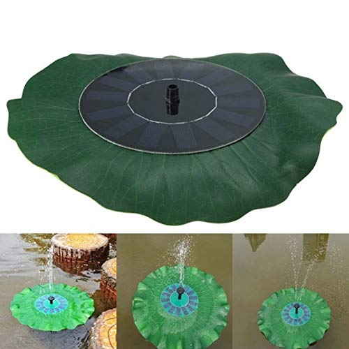 JINYANG Gartenbauzubehör Solarbetriebene Wasserpumpe Panel Kit Lotusblatt Schwimmende Pumpe Brunnen Pool Gartenteich Bewässerung Tauchpumpen