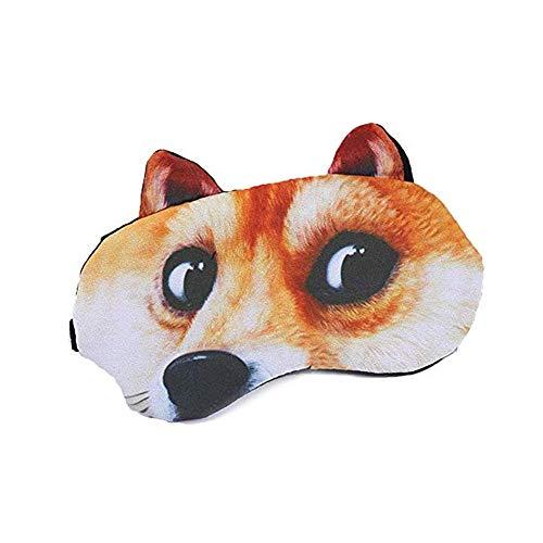 3D Süße Augenmaske Junge Mädchen Cartoon Augenmaske Niedlich Tier Schlafmaske Lustige Katze Mops Hund Form Reise Schlafhilfe Maske Augenschutz Eis Augenmaske