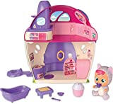 Bebés Llorones Lágrimas Mágicas La Mega casa de Katie - Mini muñeca y su Casita Mágica con Pompas de jabón y Melodías - IMC Toys