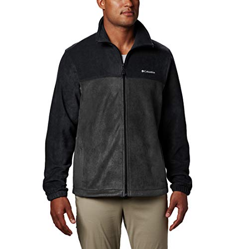 Columbia Steens Mountain Full Zip 2.0, Forro polar, para hombre, Negro, Gris (Black, Grill), XL