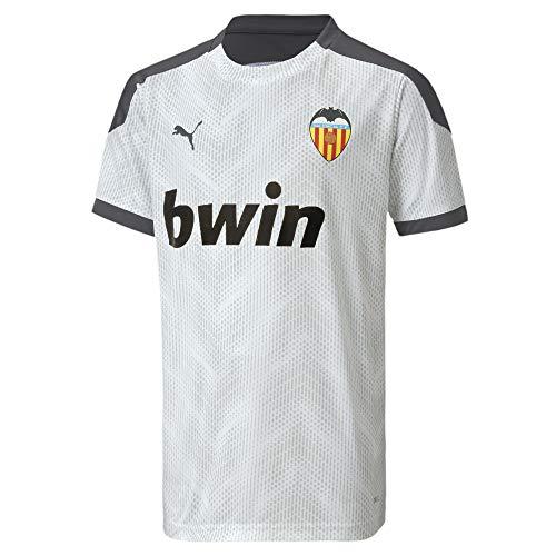 Puma Valencia CF Temporada 2020/21-Stadium Jersey Camiseta, Unisex, White/Asphalt, M