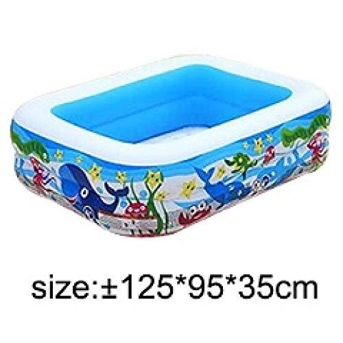 LeiDyWer Aufblasbare Poolsaufblasbarer Pool Großer Kunststoffbecken Badewanne Wärmeschutz Sicherheitspool