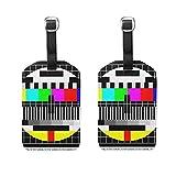 2 PCS Kofferanhänger Test TV Screen Suitcase Labels Travel Accessories