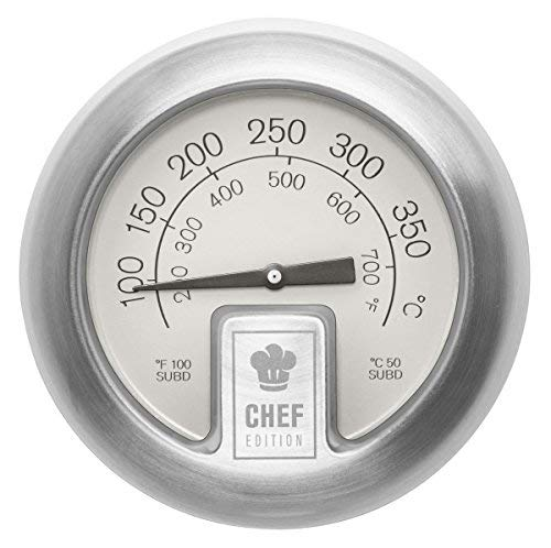 Outdoorchef Chef Edition - Termometro classico con coperchio fino a 400 °C, con quadrante extra grande