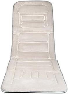 AMYMGLL Almohadilla de masaje de vibración almohadilla de masaje corporal con calor (automotriz, de doble uso, 10 motor) caliente vibrante gris oscuro beige , beige