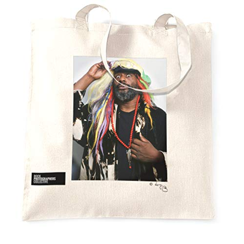 Rock Photographers Collective George Clinton Stofftaschen - Weiß/One Size