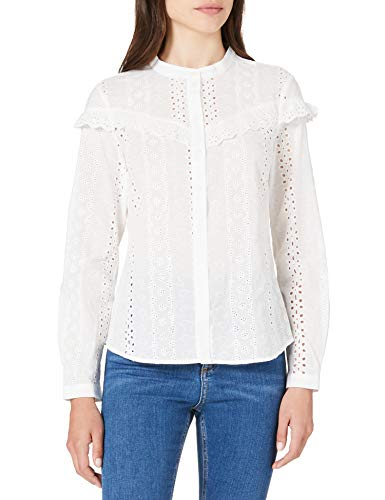 Vero Moda VMNORA L/S Shirt Noos Blusas, Blanco Nieve, M para Mujer