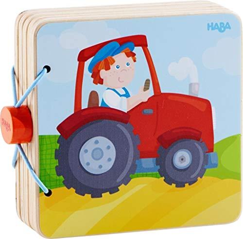 HABA- Livre en Bois pour bébé Tracteur, 303773