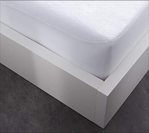 TODAY Protege Matelas Impermeable 140/190 Anti Acariens, Cotton, Blanc