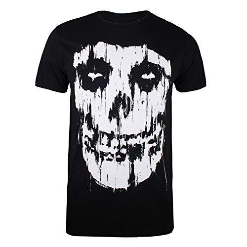 Misfits Streak Fiend Camiseta, Negro (Black Blk), S para Hombre