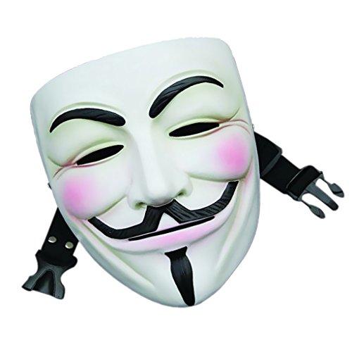 Film V Pour La Résine De Masque De Vendetta Halloween Cosplay Masque Parti Favorable Blanc