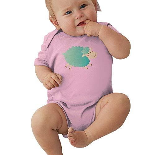 Babybekleidung Jungen Mädchen T-Shirts, Toddler Baby Boy's Bodysuit Short-Sleeve Onesie Sheep Animation Cute Print Outfit Winter Pajamas